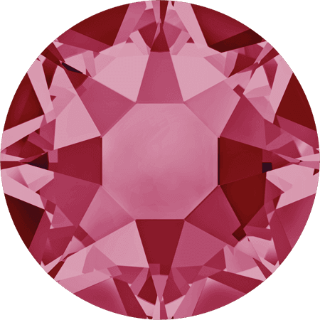 Swarovski 2078 - XIRIUS Rose, Hotfix, Indian Pink