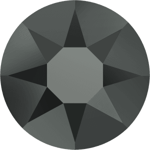 Swarovski 2078 - XIRIUS Rose, Hotfix, Jet Hematite