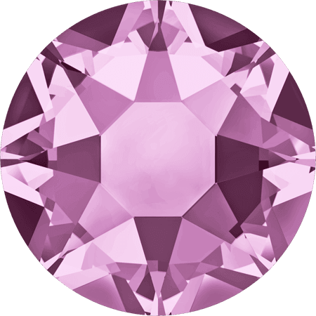 Swarovski 2078 - XIRIUS Rose, Hotfix, Light Amethyst