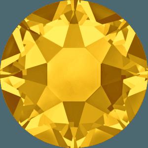Swarovski 2078 - XIRIUS Rose, Hotfix, Light Topaz