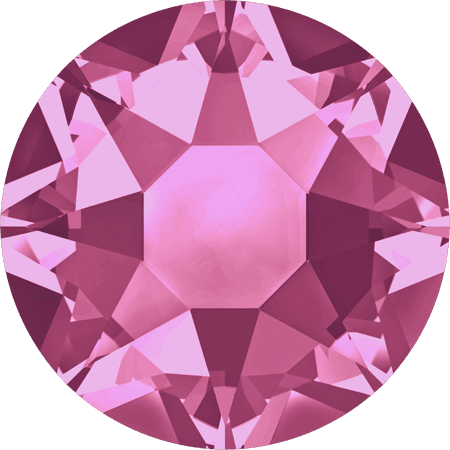 Swarovski 2078 - XIRIUS Rose, Hotfix, Rose