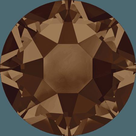 Swarovski 2078 - XIRIUS Rose, Hotfix, Smoked Topaz