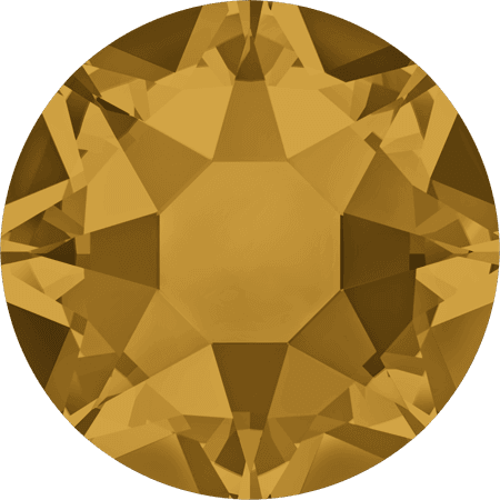 Swarovski 2078 - XIRIUS Rose, Hotfix, Topaz