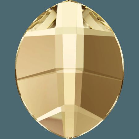 Swarovski 2204 - Pure Leaf, Hotfix, Crystal Golden Shadow