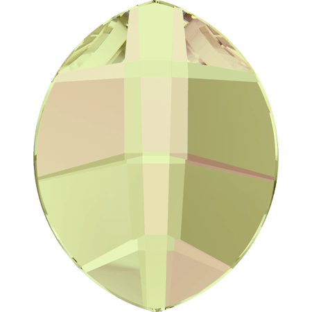 Swarovski 2204 - Pure Leaf, Hotfix, Crystal Luminous Green