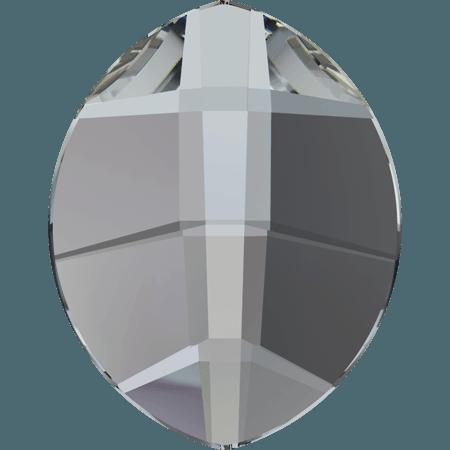 Swarovski 2204 - Pure Leaf, Hotfix, Crystal Silver Night