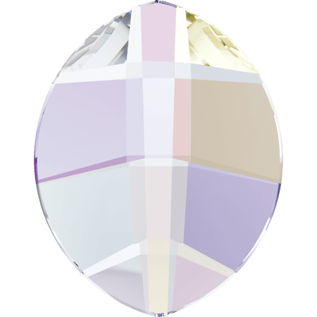 Swarovski 2204 - Pure Leaf, Hotfix, Crystal AB