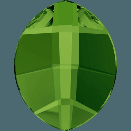 Swarovski 2204 - Pure Leaf, Hotfix, Dark Moss Green