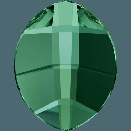 Swarovski 2204 - Pure Leaf, Hotfix, Emerald