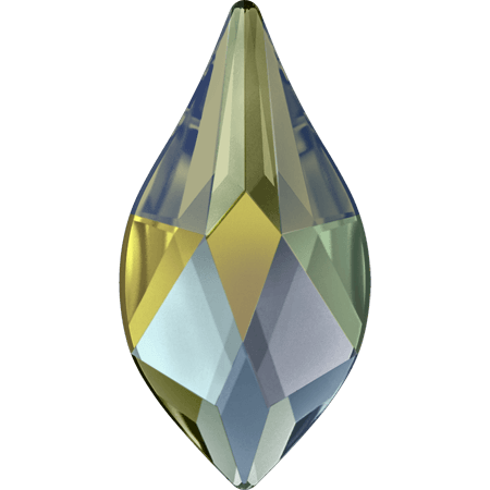 Swarovski 2205 - Flame, Crystal Iridescent Green