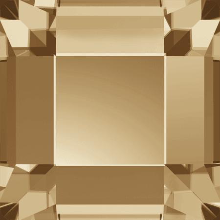 Swarovski 2400 - Square, Hotfix, Crystal Golden Shadow