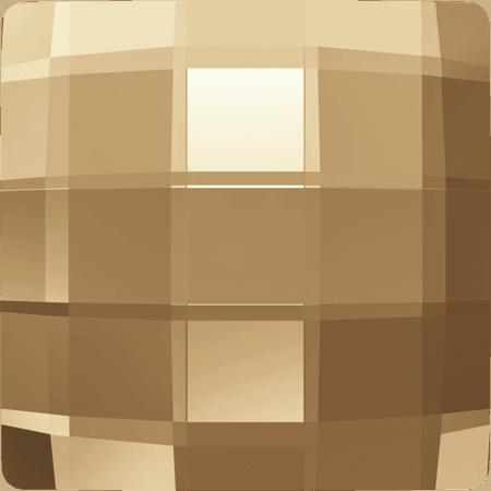 Swarovski 2493 - Chessboard, Crystal Golden Shadow