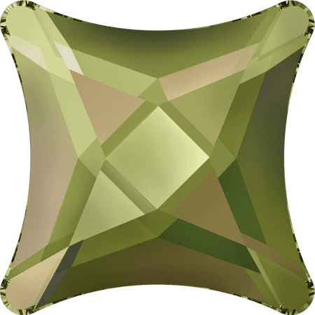 Swarovski 2494 - Starlet, Hotfix, Crystal Luminous Green