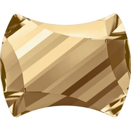Swarovski 2540 - Curvy, Hotfix, Crystal Golden Shadow