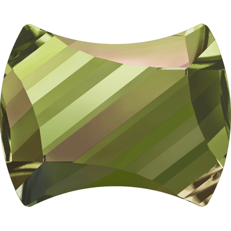 Swarovski 2540 - Curvy, Hotfix, Crystal Luminous Green