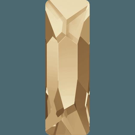 Swarovski 2555 - Cosmic Baguette, Hotfix, Crystal Golden Shadow