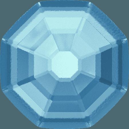 Swarovski 2611/G - Solaris partly frosted, Aquamarine
