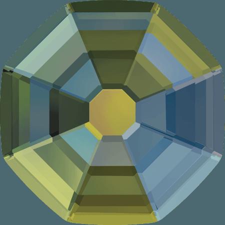 Swarovski 2611 - Solaris, Hotfix, Crystal Iridescent Green