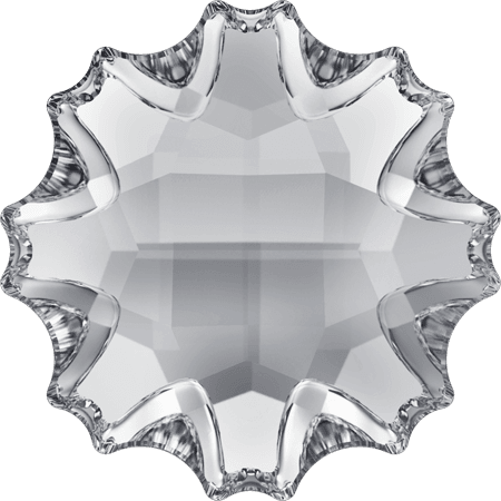 Swarovski 2612 - Jelly Fish partly frosted, Hotfix, Crystal