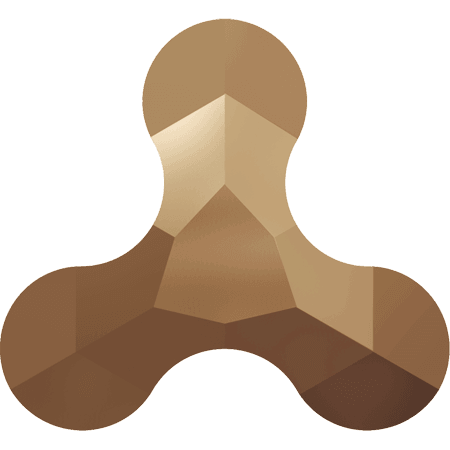 Swarovski 2708 - Molecule, Hotfix, Crystal Rose Gold