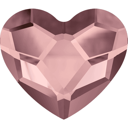 Swarovski 2808 - Heart, Crystal Antique Pink