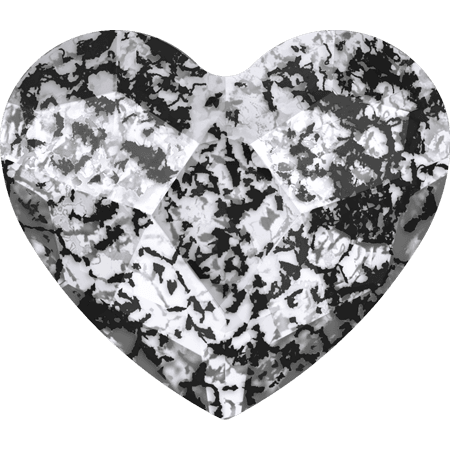 Swarovski 2808 - Heart, Crystal Black Patina