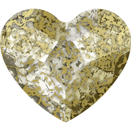 Swarovski 2808 - Heart, Crystal Gold Patina
