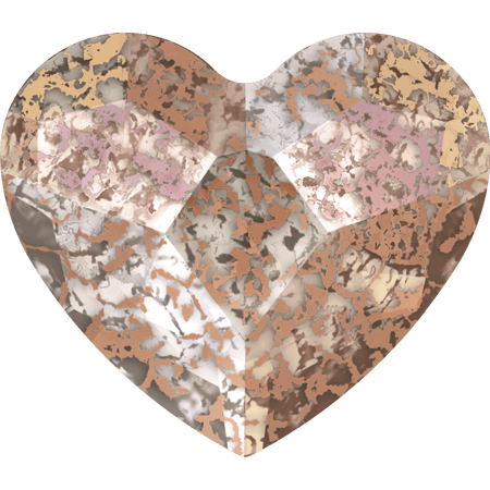 Swarovski 2808 - Heart, Crystal Rose Patina