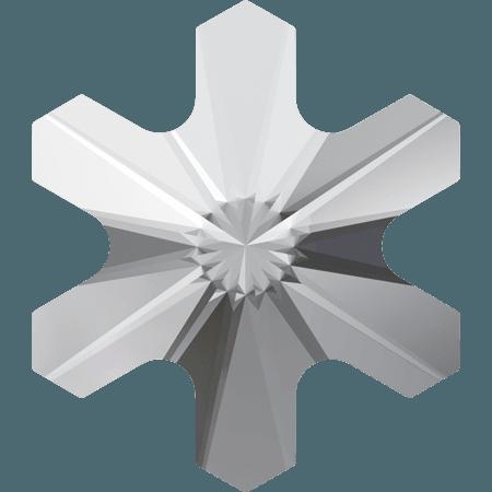 Swarovski 2826 - Rivoli Snowflake, Hotfix, Crystal