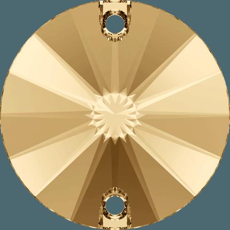 Swarovski 3200 - Rivoli, Crystal Golden Shadow