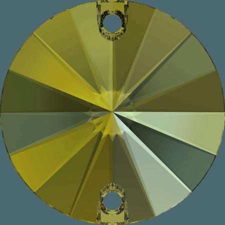 Swarovski 3200 - Rivoli, Crystal Iridescent Green