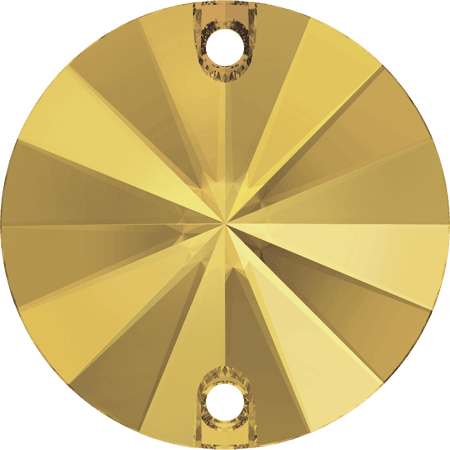 Swarovski 3200 - Rivoli, Crystal Metallic Sunshine
