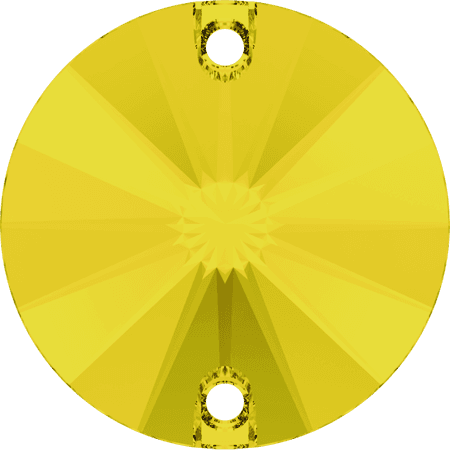 Swarovski 3200 - Rivoli, Yellow Opal