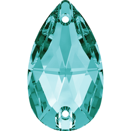Swarovski 3230 - Drop, Blue Zircon