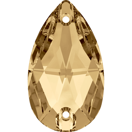Swarovski 3230 - Drop, Crystal Golden Shadow