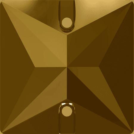 Swarovski 3240 - Square, Crystal Dorado