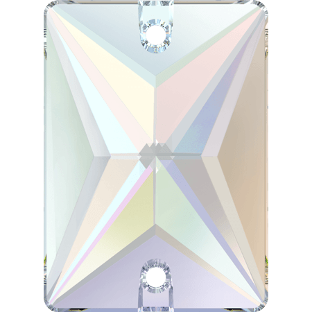 Swarovski 3250 - Rectangle, Crystal AB