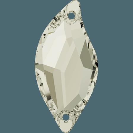 Swarovski 3254 - Diamond Leaf, Crystal Silver Shade