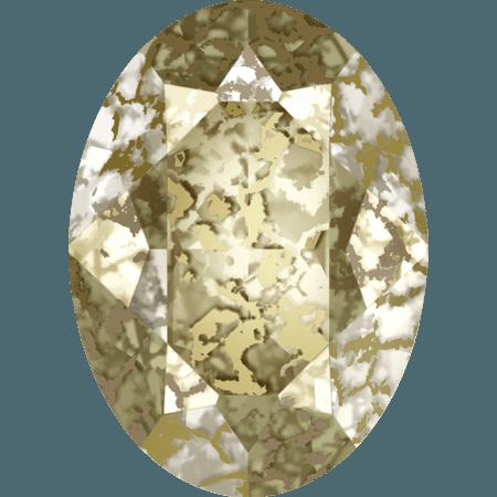 Swarovski 4120, Crystal Gold Patina