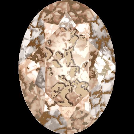 Swarovski 4120, Crystal Rose Patina