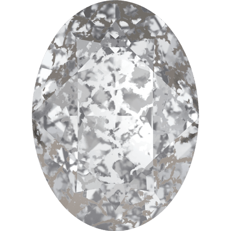 Swarovski 4120, Crystal Silver Patina
