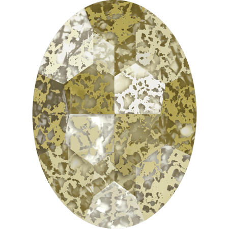 Swarovski 4127, Crystal Gold Patina