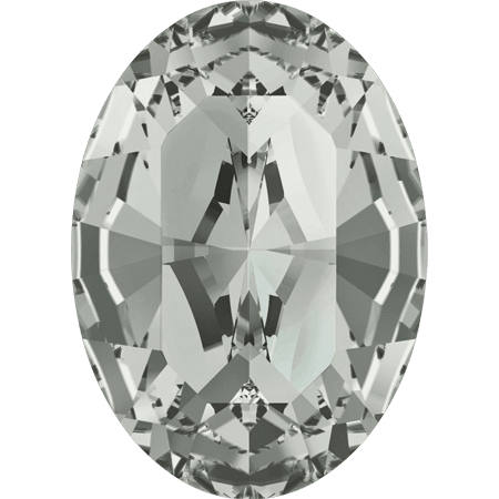 Swarovski 4128 - XILION Oval, Black Diamond