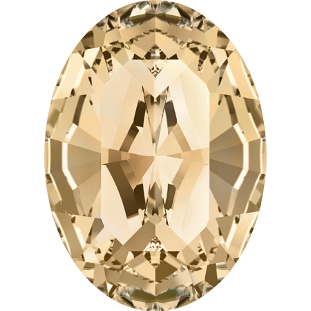 Swarovski 4128 - XILION Oval, Crystal Golden Shadow