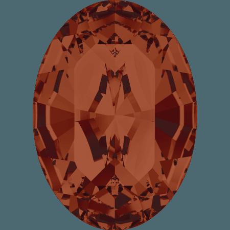 Swarovski 4128 - XILION Oval, Crystal Red Magma