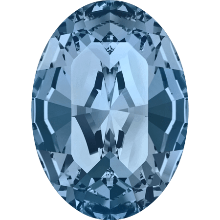 Swarovski 4128 - XILION Oval, Denim Blue