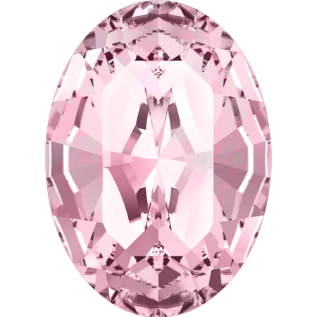 Swarovski 4128 - XILION Oval, Light Rose