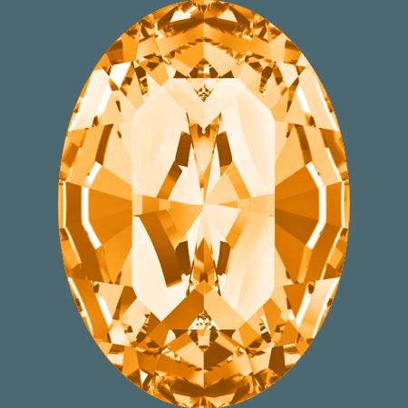 Swarovski 4128 - XILION Oval, Topaz