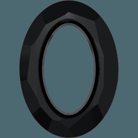 Swarovski 4137 - Cosmic Oval, Jet
