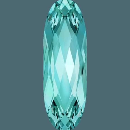 Swarovski 4161 - Long Classical Oval, Light Turquoise